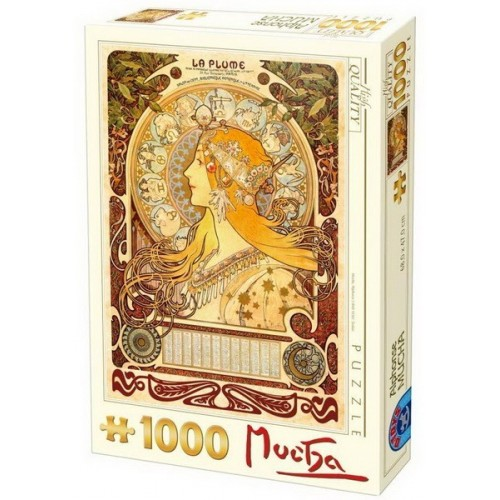 Zodiac - Alfons Mucha, D-Toys puzzle 1000 pc