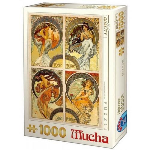 Művészetek - Alfons Mucha, 1000 darabos D-Toys puzzle