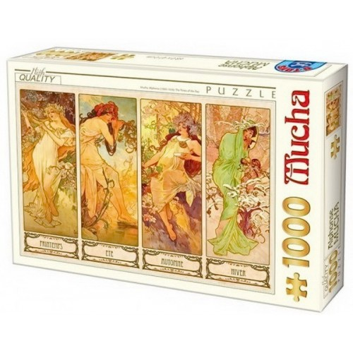 Évszakok - Alfons Mucha, D-Toys puzzle 1000 db