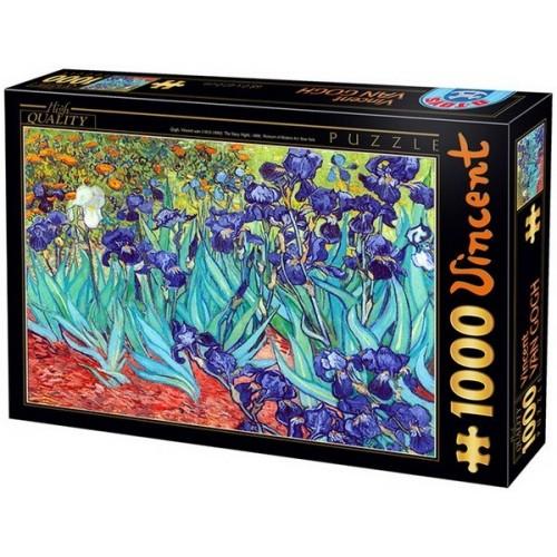 Íriszek - Van Gogh, 1000 darabos D-Toys puzzle