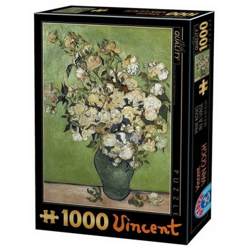 Pink Roses in a Vase - Van Gogh, D-Toys puzzle 1000 pc