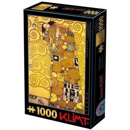 Ölelés - Gustav Klimt, 1000 darabos D-Toys puzzle
