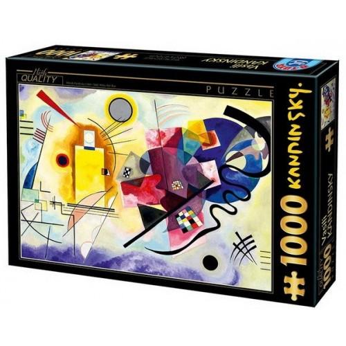 Sárga-vörös-kék - Wassily Kandinsky, 1000 darabos D-Toys puzzle