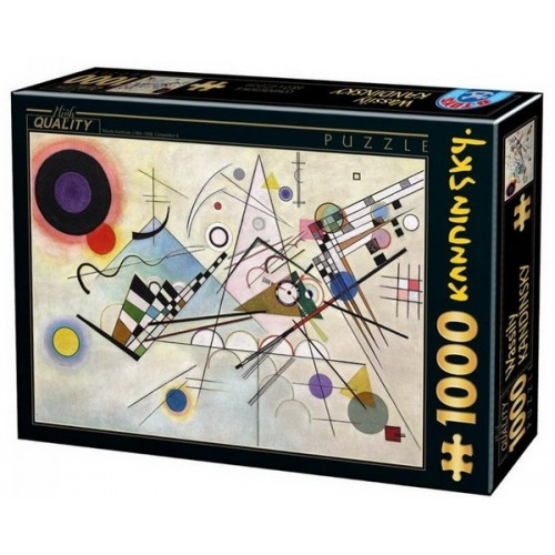 Kompozíció 8 - Wassily Kandinsky, 1000 darabos D-Toys puzzle