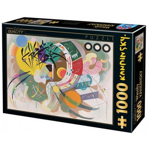 Domináns görbe - Wassily Kandinsky, 1000 darabos D-Toys puzzle