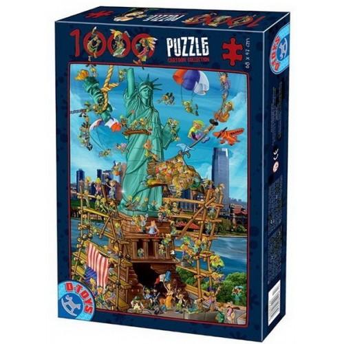 Szabadság-szobor - USA, 1000 darabos D-Toys puzzle