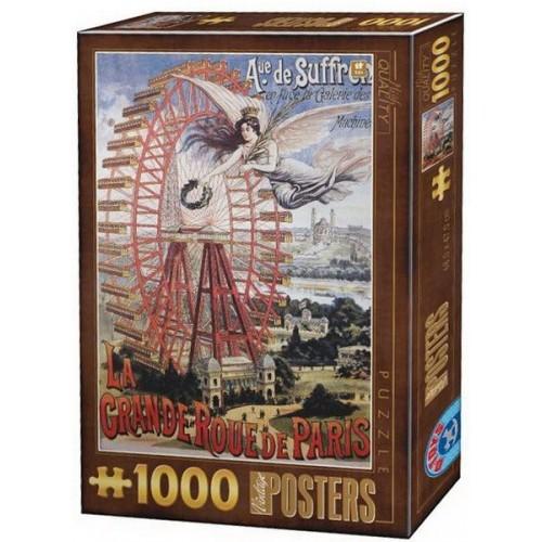 Régi plakátok - La Grande Roue de Paris, 1000 darabos D-Toys puzzle