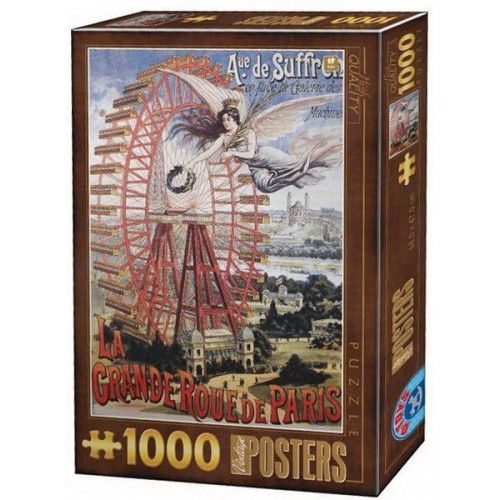 Vintage Posters - La Grande Roue de Paris, D-Toys puzzle 1000 pc