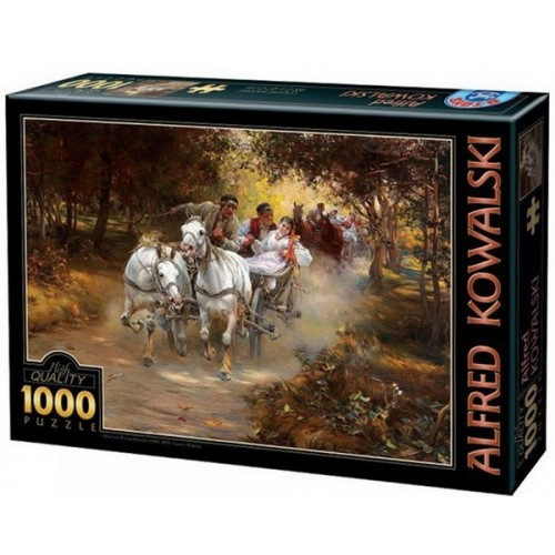 Country Wedding - Alfred Kowalski, D-Toys puzzle 1000 pc