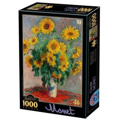 Bouquet of Sunflower - Claude Monet, D-Toys puzzle 1000 pc