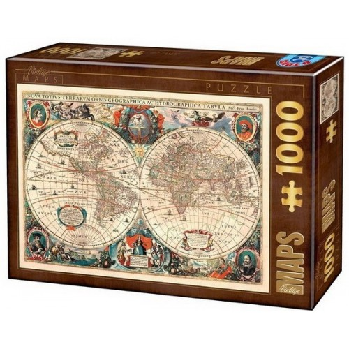 Antique world map, D-Toys puzzle 1000 pc