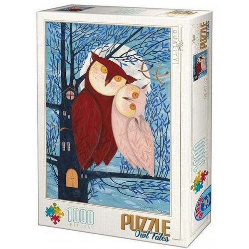 Owl Tales - Kürti Andrea, D-Toys puzzle 1000 pc
