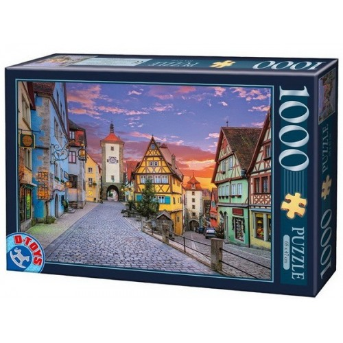 Old Town - Rottenburg - Germany, D-Toys puzzle 1000 pc