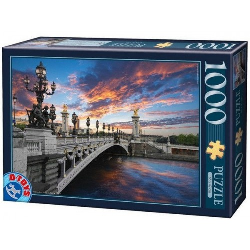 Alexander's Bridge - Paris - France, D-Toys puzzle 1000 pc