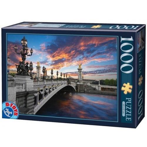 III. Sándor híd - Párizs, 1000 darabos D-Toys puzzle