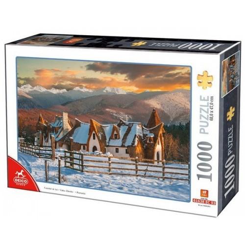 Agyag kastély - Tündérek völgye, 1000 darabos Deico puzzle