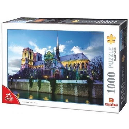 Notre Dame - Párizs, 1000 darabos Deico puzzle