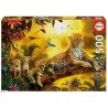 Leopard and His Cubs, Educa Puzzle 500 pcs