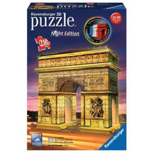 Arc de Triomphe - Paris, Night edition, Ravensburger 3D puzzle
