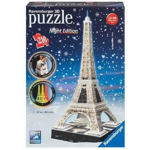 Eiffel Tower - Winter's Night - Night edition, Ravensburger 3D puzzle