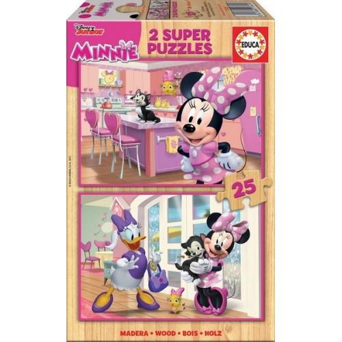 Minnie Happy Helpers, Educa wooden puzzle 2x25 pc