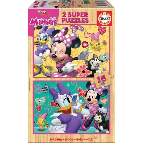 Minnie Happy Helpers, Educa wooden puzzle 2x16 pc
