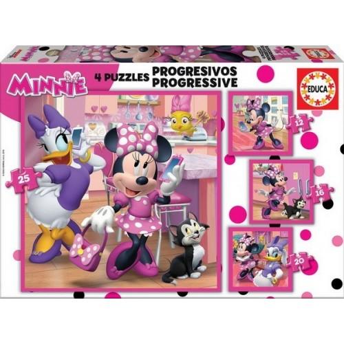 Minnie Happy Helpers, Educa Progressive Puzzle 12-25 pc
