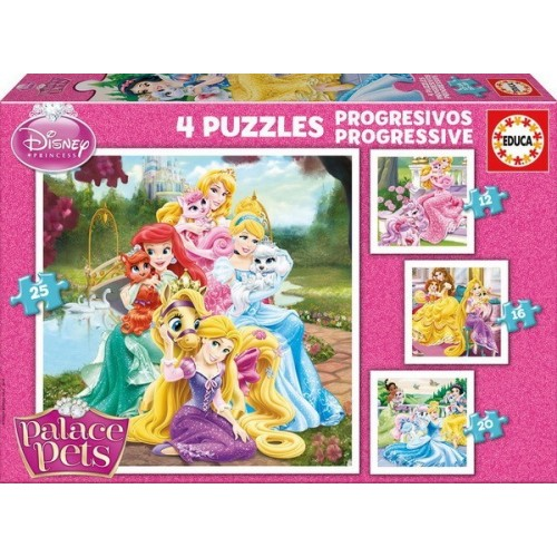 Palace Pets, Educa Progressive Puzzle 12-25 pc