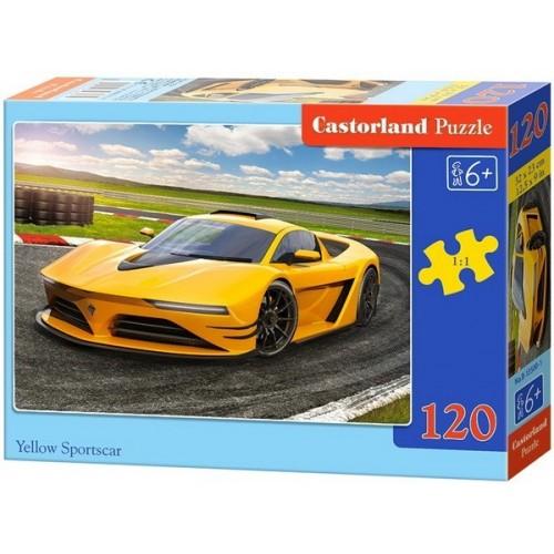 Yellow Sportscar, Castorland Classic Puzzle 120pc