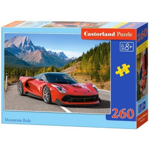 Sportautó a hegyi úton, Castorland 260 darabos puzzle