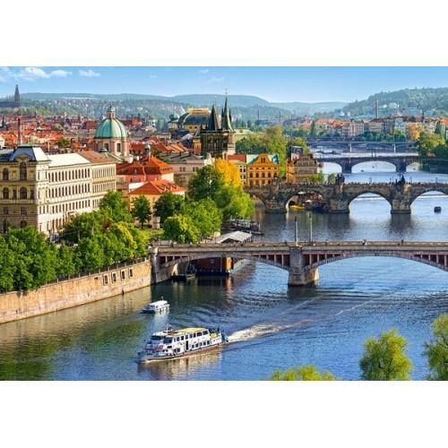 View of Bridge in Prague, Castorland Puzzle 500 pcs
