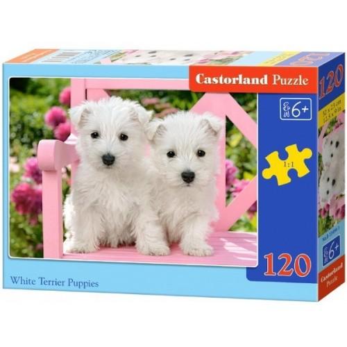 White Terrier Puppies, Castorland Classic Puzzle 120pc
