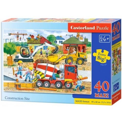 Építkezés, 40 darabos Castorland Maxi puzzle