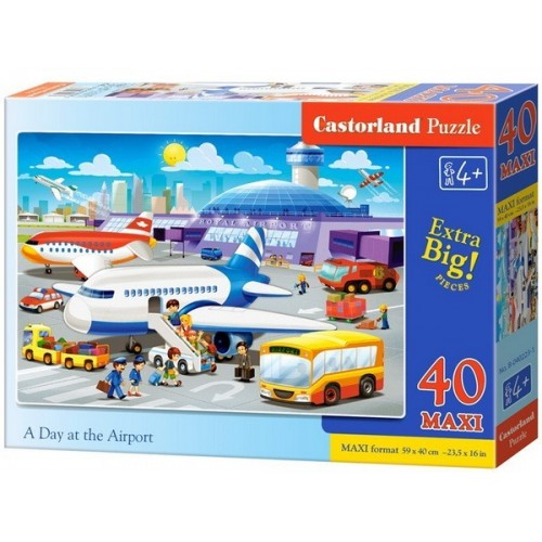 A Day at the Airport, Castorland Maxi Puzzle 40 pcs
