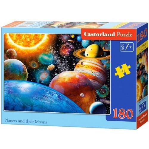 Bolygók és holdjaik, 180 darabos Castorland puzzle