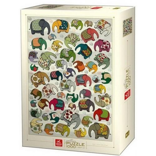 Elephant pattern - Dávid-Kátai Eszter, Deico puzzle 1000 pc