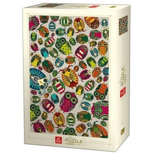 Owl pattern - Dávid-Kátai Eszter, Deico puzzle 1000 pc