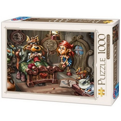 Little Red Riding Hood and the Wolf, D-Toys puzzle 1000 pc
