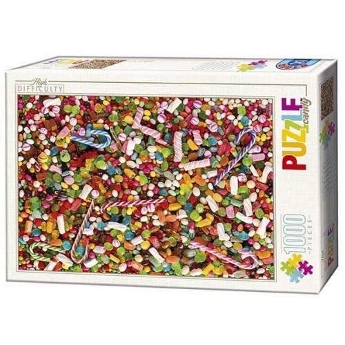 Cukorkák, 1000 darabos D-Toys puzzle