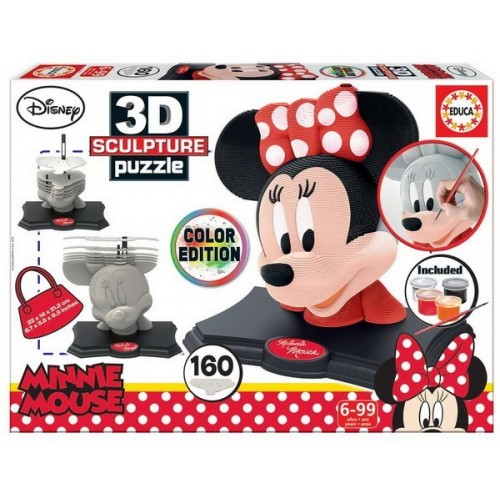 Minnie egér - Color Edition, Educa 160 darabos 3D puzzle szobor