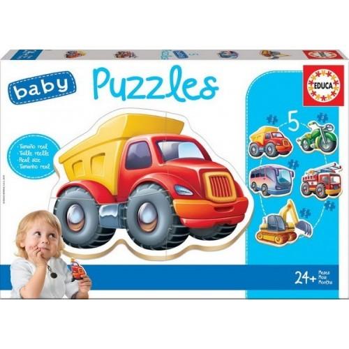 Educa Baba Puzzle, Járművek 3-4-5 darabos