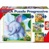 Wild Animals, Educa Progressive Puzzle 6-16 pc