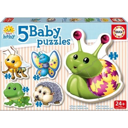 Állatvilág a házkörül, Educa baba puzzle (3-4-5 darabos)