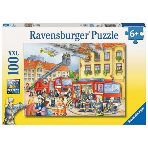 Tűzoltók, Ravensburger Puzzle 100 darabos XXL képkirakó