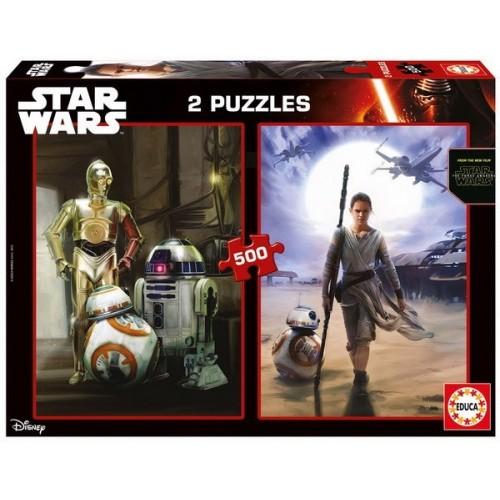 Star Wars - Az ébredő erő, 2x500 darabos Educa puzzle