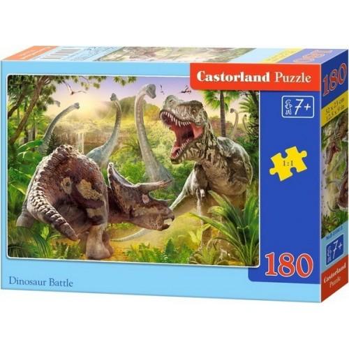 Dinosaur Battle, Castorland Midi Puzzle 180pc