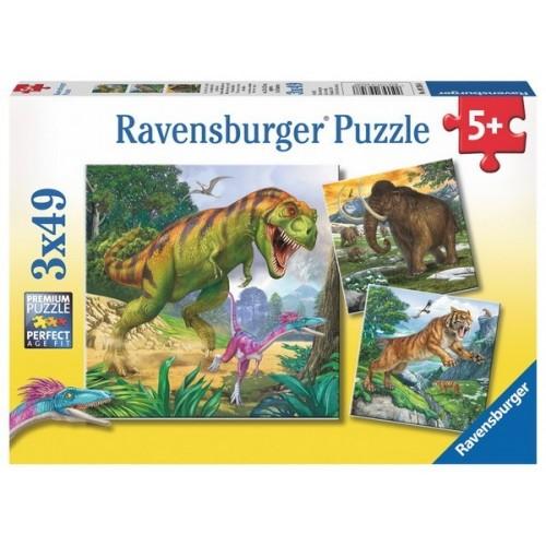 Primeval Ruler, Ravensburger Puzzle 3X49 pcs puzzle
