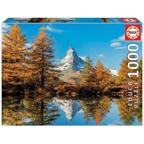 Matterhorn Montain in Autumn, Educa puzzle 1000 pcs
