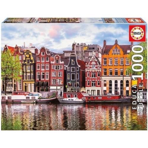 Dancing houses - Amsterdam, Educa puzzle 1000 pcs