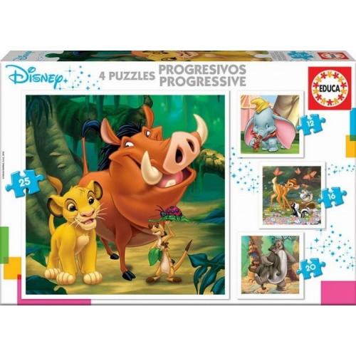 Disney tales, Educa Progressive Puzzle 12-25 pc